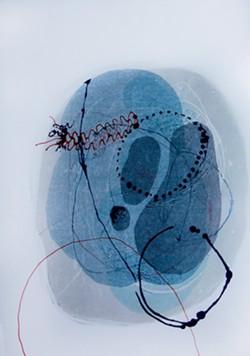 """Plastiglomerate: Cytology 1"" monoprint - COURTESY OF KATIE LOESEL"
