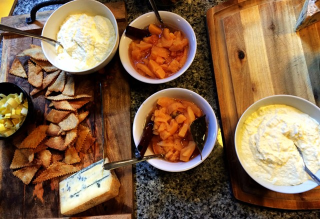 Local cheeses and spiced quince compote - JULIA CLANCY