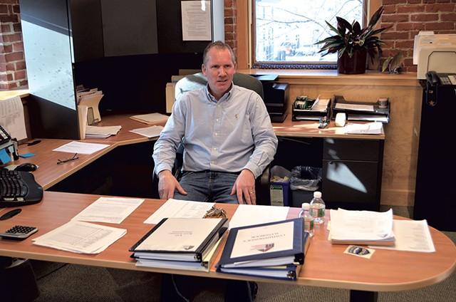 Chris Barrett, acting codirector of the Burlington Housing Authority - MATTHEW ROY