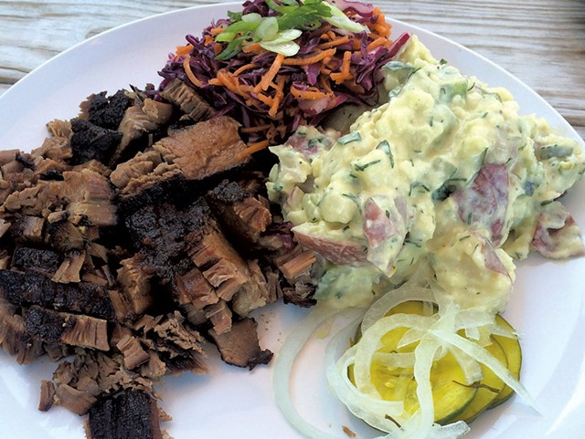 Brisket at Pork & Pickles BBQ - FILE: SUZANNE PODHAIZER