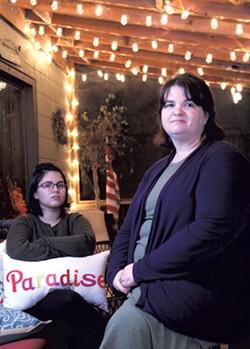 Paige (left) and Nikki Builta-Paradise - MATTHEW THORSEN