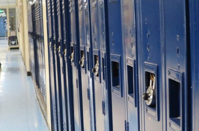 A Burlington High School hallway - FILE: MATTHEW THORSEN