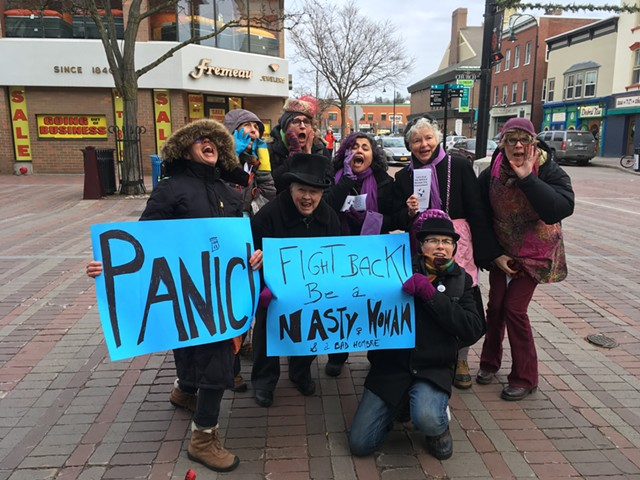 Members of Feminists Against Trump and the All Affected Coalition - RACHEL JONES