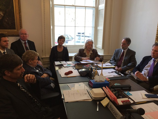 The Judicial Nominating Board discusses its powers during a meeting at the Statehouse on Tuesday. - ALICIA FREESE