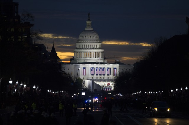 The Capitol on Friday morning - AP PHOTO/CLIFF OWEN