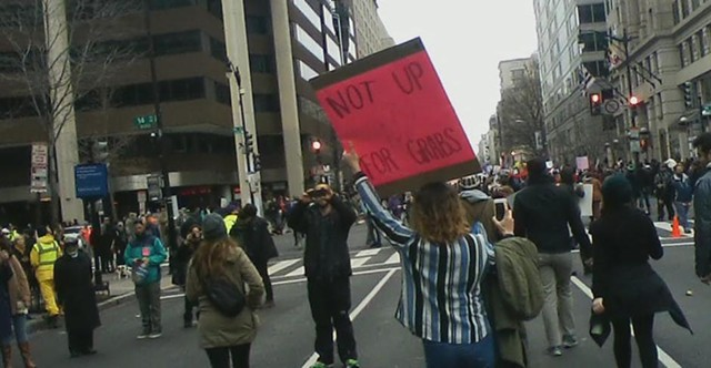 Protesters took to the streets in Washington, D.C. on Friday. - KEVIN J. KELLEY