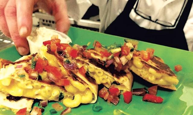 Samurai Soul Food's mac-and-cheese quesadilla