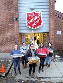 Volunteers delivering food - MATTHEW THORSEN