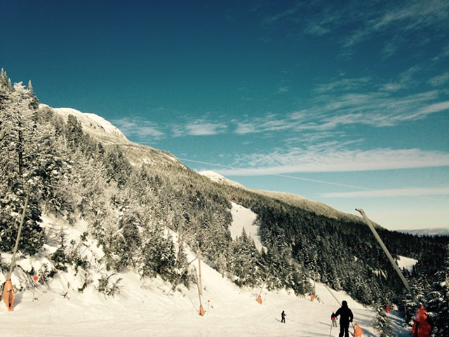 Skiers at Stowe in January - MOLLY WALSH