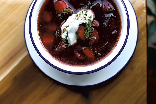 Borscht, the soup du jour last week - SARAH PRIESTAP
