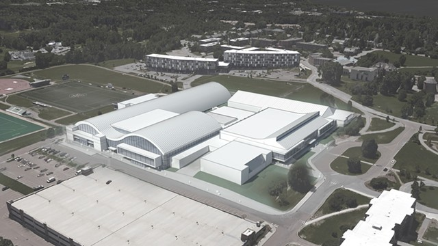 Renderings of the proposed UVM multipurpose center - COURTESY OF UVM