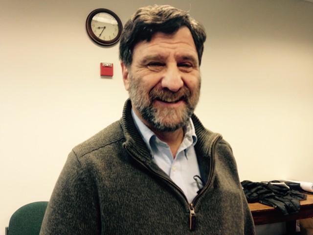 Josh Dein at Friday's Shelburne Selectboard meeting - MOLLY WALSH