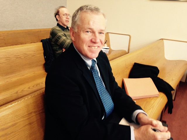 Shelburne Selectboard Chair Gary von Stange at the Vermont Superior Court hearing Friday morning - MOLLY WALSH