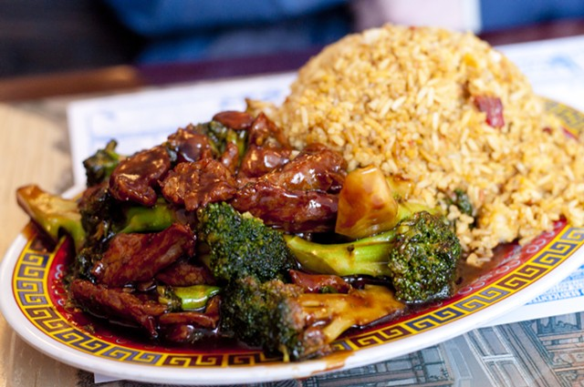 Lunch special: beef and broccoli, fried rice (not pictured, pork spare ribs) - HANNAH PALMER EGAN