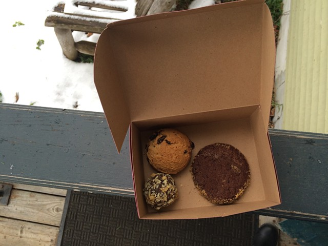 Rum ball, hermit and Black-and-Gold from Sandy's Books & Bakery - JULIA CLANCY