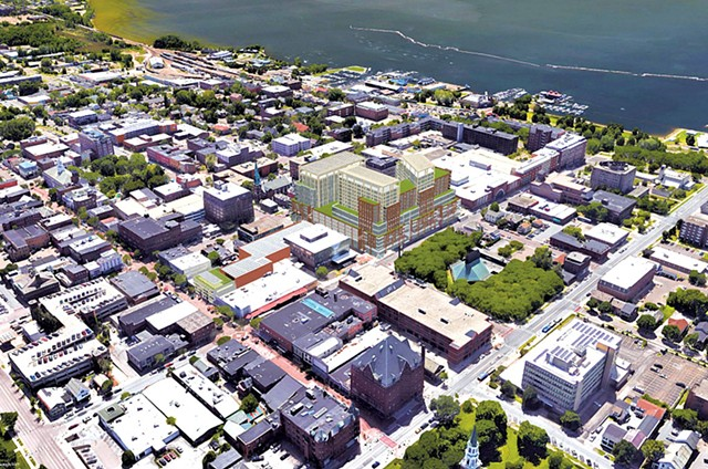 A rendering of the Burlington Town Center redevelopment - PKSB ARCHITECTS