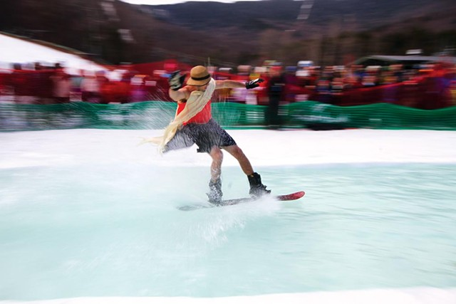 Pond skimming at Sugarbush Resort - COURTESY OF SUGARBUSH RESORT