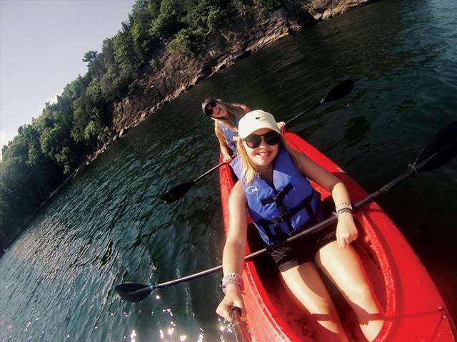 Kayaking on Lake Champlain - COURTESY OF CATE BARTON