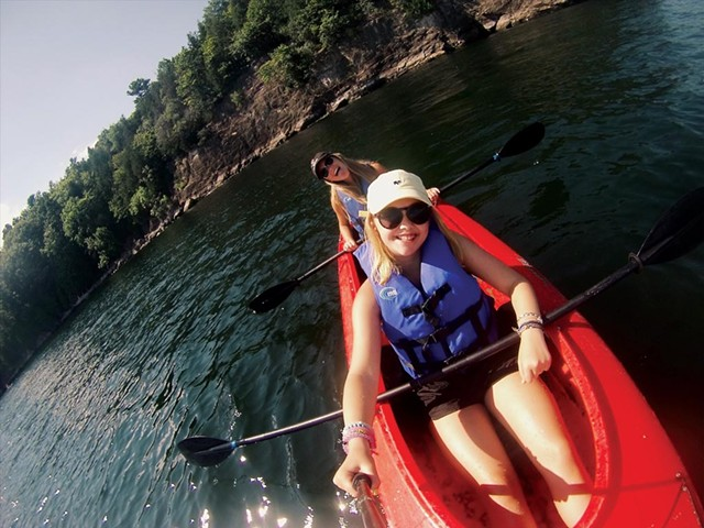 Kayaking on Lake Champlain - COURTESY OF CATE BARTON
