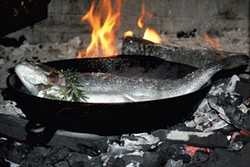 Local trout in the wood-fired oven - SUZANNE PODHAIZER