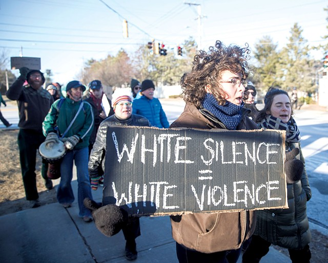 Martin Luther King Jr. Day rally at Burlington High School - JAMES BUCK