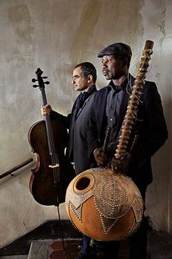 French cellist Vincent Segal (left) and Malian kora player Ballaké Sissoko' - COURESTY OF CLAUDE GASSIAN