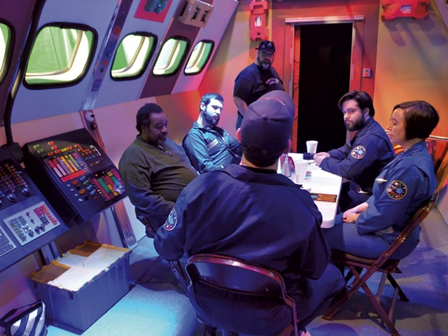 """Rehearsal for the pilot episode of  """"The Outer Rim"""" - KEN PICARD"""