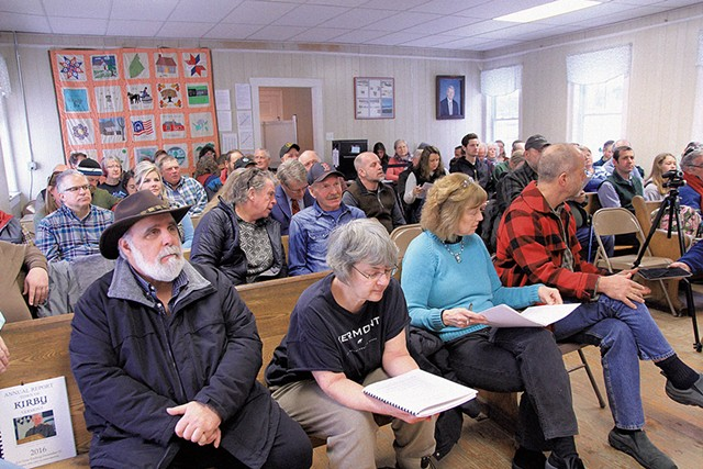 Kirby residents at their town meeting - NANCY PIETTE
