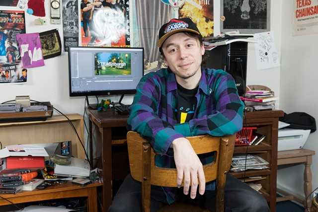 Matthew Hall at his studio in Plattsbugh, N.Y. - GABE DICKENS
