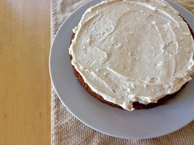 Maple-Carrot-Apple Cake With Spiced Cream Cheese Frosting - SUZANNE PODHAIZER
