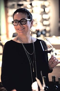 Lisa Strausser at Dedalus Wine Shop in Burlington - MATTHEW THORSEN