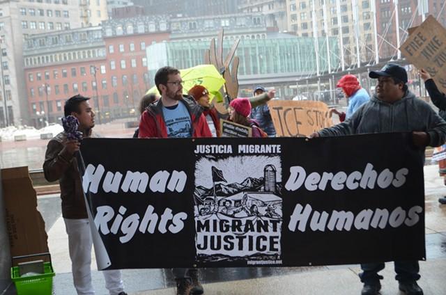 Protesters in Boston - KATIE JICKLING