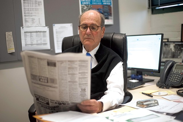 Fredric Rutberg in his office at the Berkshire Eagle - COURTESY OF BEN GARVER/BERKSHIRE EAGLE