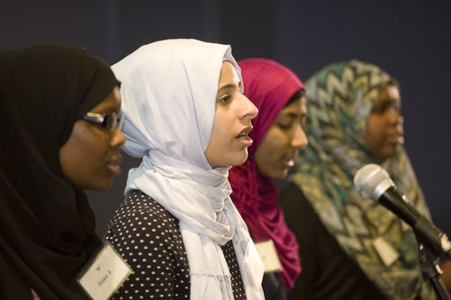 Muslim Girls Making Change slam poets - COURTESY OF YOUNG WRITERS PROJECT