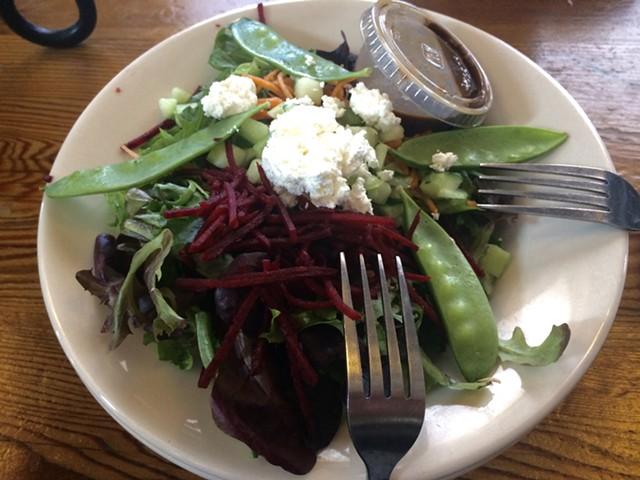 Salad at Folino's - SUZANNE PODHAIZER