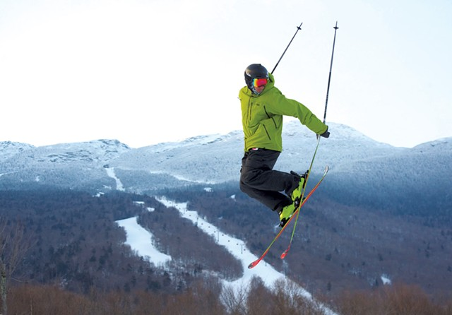 Skiing at Stowe Mountain Resort - JEB WALLACE-BRODEUR