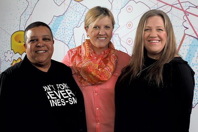 Left to right: Wanda Hines, Aftaba Mezetovic and Armina Medic - MATTHEW THORSEN