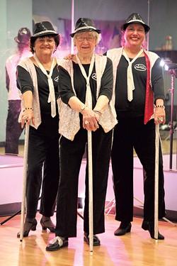 Left to right: Nan Spence, Elsa Wheel and Donna Zeo - MATTHEW THORSEN