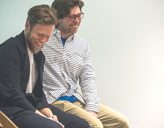 Adam (left) and Kevin Pearce - COURTESY OF ADAM PEARCE