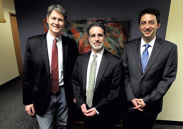 Left to right: Christopher Curtis, Josh Diamond and David Scherr - JEB WALLACE-BRODEUR