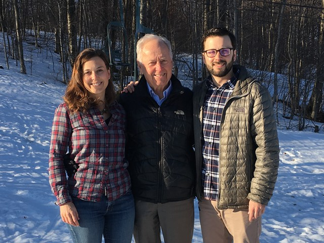 Lindsay, Ralph and Evan DesLauriers - COURTESY BOLTON VALLEY RESORT