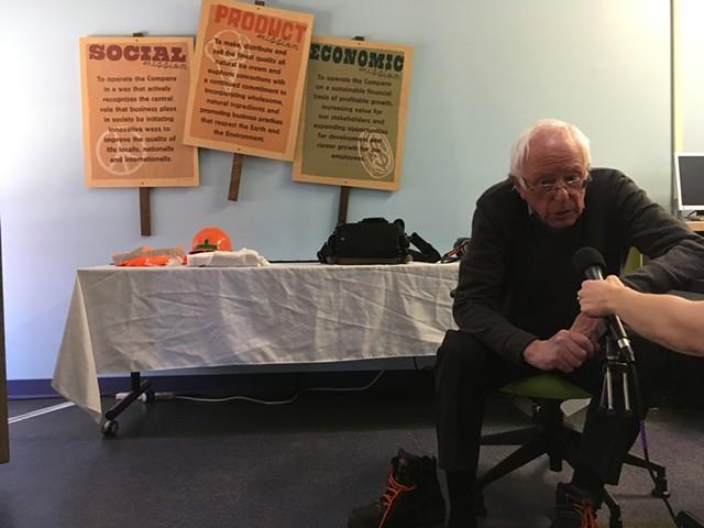 Bernie takes a couple of questions. - MARK DAVIS