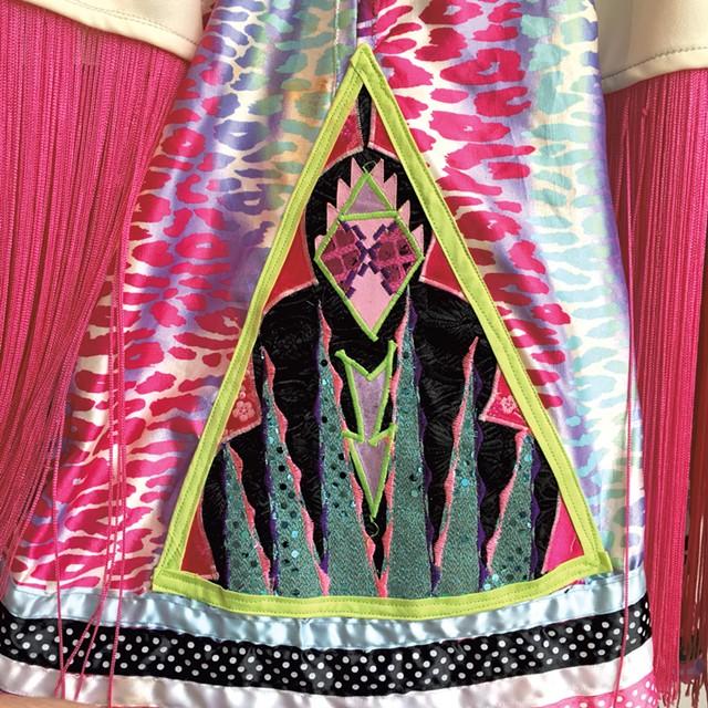 "Detail of ""Girl's Fancy Dancing Dress""by Takara Mathews - COURTESY OF TAKARA MATHEWS"