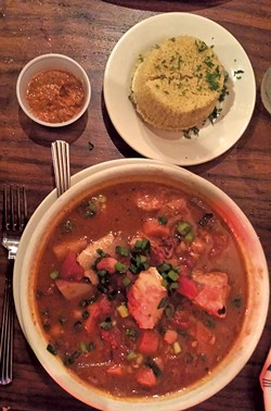 Fish stew at Park Squeeze - CAROLYN SHAPIRO