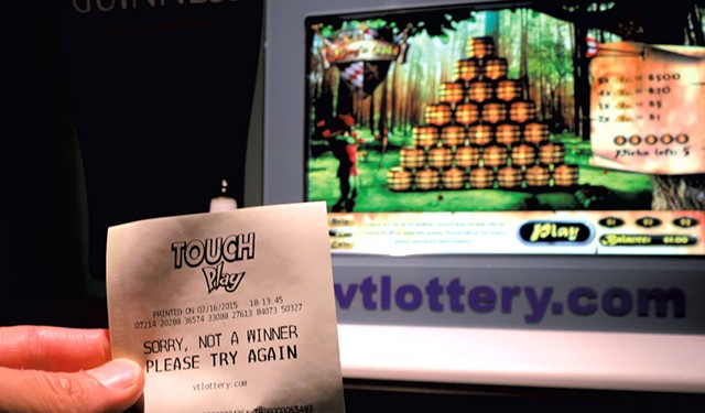 A'Touch Play lottery console - FILE: MATTHEW THORSEN