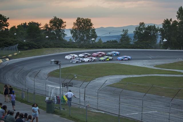 Cars race at Thunder Road last summer - FILE