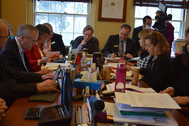 The House Government Operations Committee at a meeting earlier this year - FILE: TERRI HALLENBECK