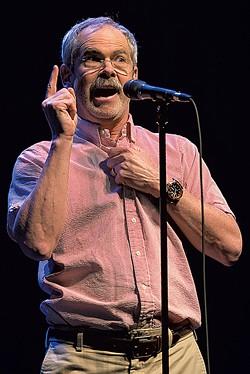 Mark Redmond performing at Moth GrandSLAM - RAJAN CHAWLA