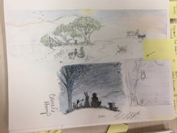 More drawings for the mural - MARGOT HARRISON
