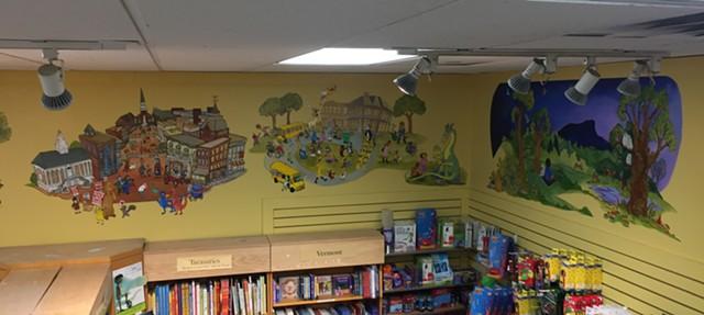 Mural by Kristin Richland at Phoenix Books Burlington (detail) - MARGOT HARRISON